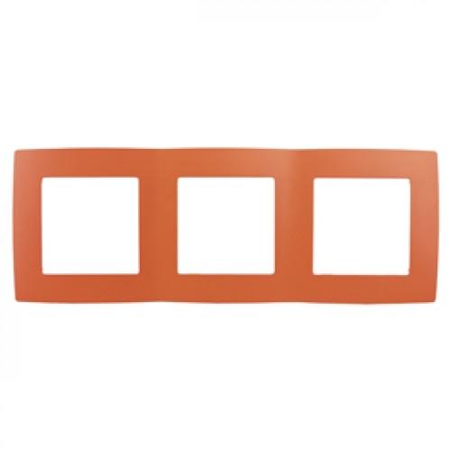 12-5003-22 ЭРА Рамка на 3 поста, Эра12, оранжевый (15/150/3000) Б0019405