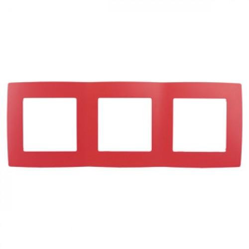 12-5003-23 ЭРА Рамка на 3 поста, Эра12, красный (15/150/3000) Б0019406