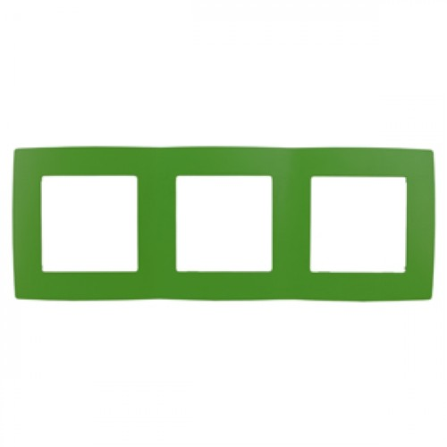 12-5003-27 ЭРА Рамка на 3 поста, Эра12, зелёный (15/150/2400) Б0019410