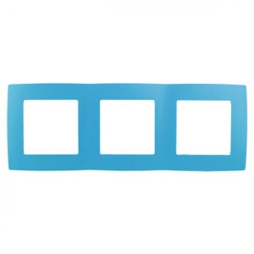 12-5003-28 ЭРА Рамка на 3 поста, Эра12, голубой (15/150/2400) Б0019411