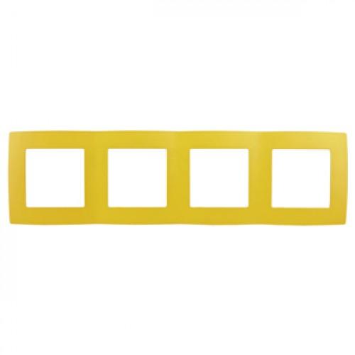 12-5004-21 ЭРА Рамка на 4 поста, Эра12, жёлтый (10/100/2000) Б0019413