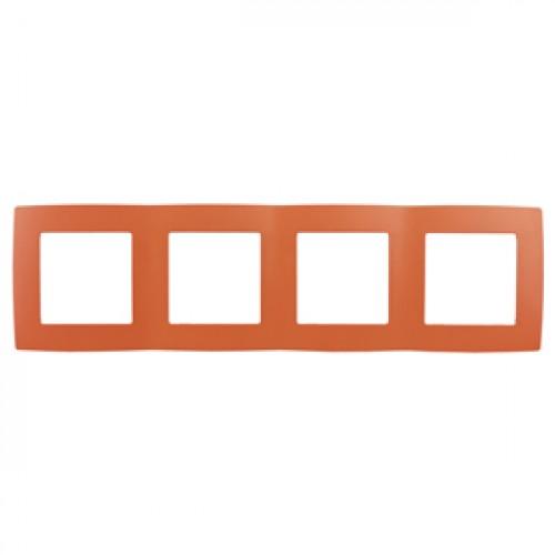 12-5004-22 ЭРА Рамка на 4 поста, Эра12, оранжевый (10/100/2000) Б0019414