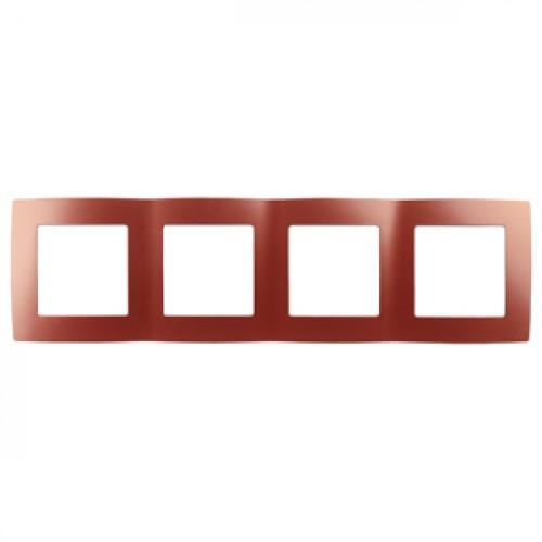 12-5004-24 ЭРА Рамка на 4 поста, Эра12, охра (10/100/2000) Б0019416
