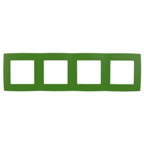 12-5004-27 ЭРА Рамка на 4 поста, Эра12, зелёный (10/100/2000) Б0019430