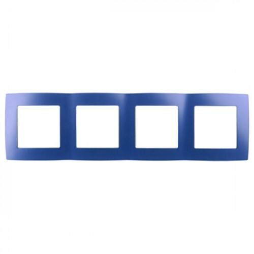 12-5004-29 ЭРА Рамка на 4 поста, Эра12, ультрамарин (10/100/2000) Б0019432