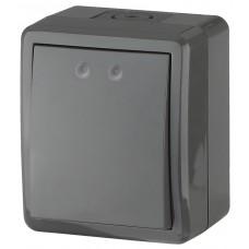 11-1401-03 ЭРА Выключатель IP54, 10АХ-250В, ОУ, Эра Эксперт, серый (16/160/2560) Б0020670