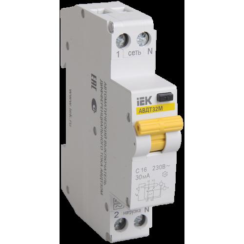 АВДТ32М В16 30мА - Автоматический Выключатель Диф. Тока ИЭК MAD32-5-016-B-30