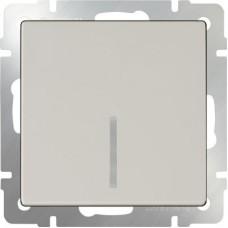 Выключатель одноклавишный проходной с подсветкой / WL03-SW-1G-2W-LED-ivory (слоновая кость) a051463