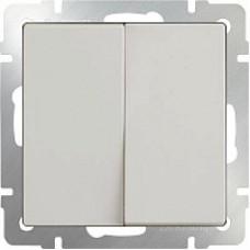 Выключатель двухклавишный проходной / WL03-SW-2G-2W-ivory (слоновая кость) a051485