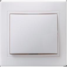 ВСк10-1-0-КБ Выключатель 1кл кноп. 10А КВАРТА (белый) EVK13-K01-10-DM