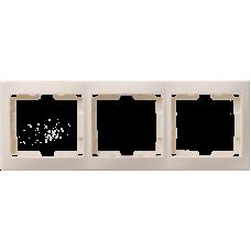 РГ-3-ККм Рамка 3местн. горизонт. КВАРТА (кремовый) EMK30-K33-DM
