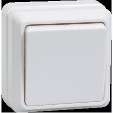 ВСк20-1-0-ОБ Выключатель 1кл кноп. 10А ОКТАВА (белый) EVO13-K01-10-DC