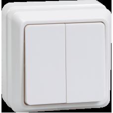 ВС20-2-0-ОКм Выключатель 2кл 10А откр.уст. ОКТАВА (кремовый) EVO20-K33-10-DC