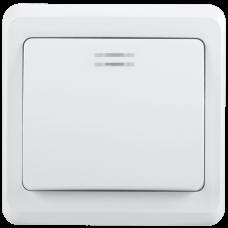 ВС10-1-1-ВБ Выключатель 1кл 10А с инд. ВЕГА (белый) IEK EVV11-K01-10-DM