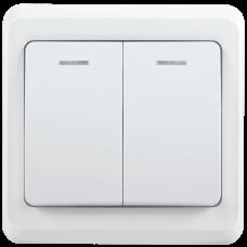 ВС10-2-1-ВБ Выключатель 2кл 10А с инд. ВЕГА (белый) IEK EVV21-K01-10-DM