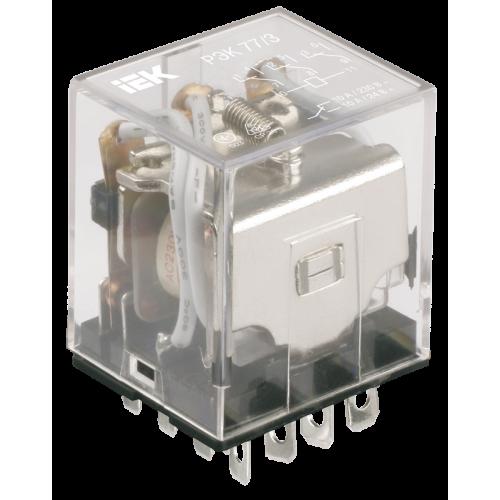Реле РЭК77/3(LY3) с индикацией 10А 230В АC ИЭК RRP10-3-10-220A-LED