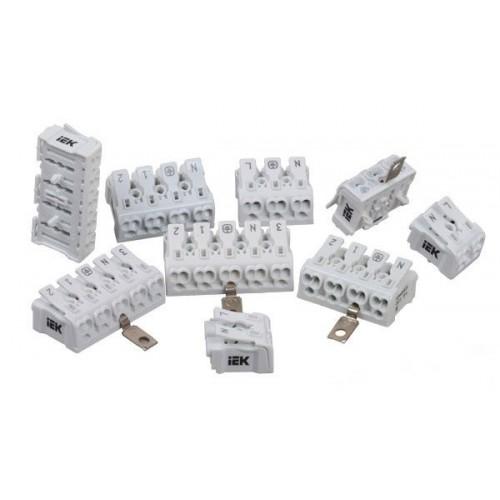 Клемма пружинная соединительная КСПз3-L+N+PE IEK UKZ-B06-3P-F0-E1-10