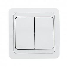 Лондон Выключатель 2-клавишный 10А белый EKF PROxima EEV10-023-10