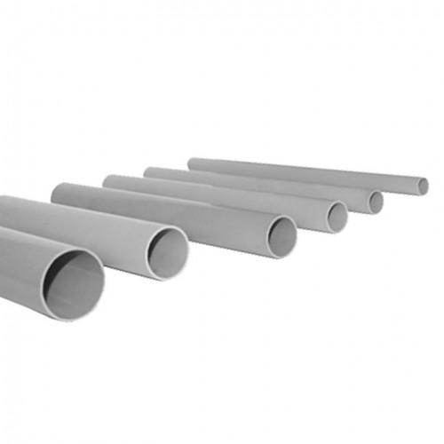 Труба гладкая жесткая ПВХ d63 EKF серая (21м/уп) (3м.) EKF PROxima trg-63-3n