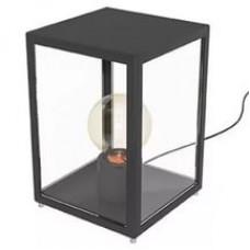 94789 Уличная настольная лампа  ALAMONTE 1, 1х60W (E27), H275, гальван. сталь, черный/стекло 94789