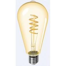 Лампа светодиодная GLDEN-ST64SS-7-230-E27-2700 Золотая 655306