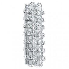 94316 Светодиодный светильник наст.-потол. LONZASO, 18W(LED), 140х390, сталь, хром/ хрусталь, прозра 94316