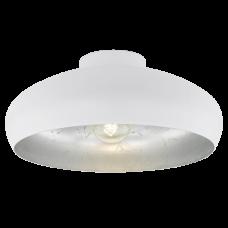 94548 Потолочный светильник MOGANO, 1х60W (E27), O400, H170, сталь, белый, серебряный 94548