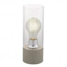 94549 Настольная лампа TORVISCO, 1x60W (E27), O110, сталь, серый/стекло, прозрачный 94549