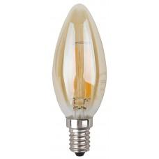 Лампа светодиодная ЭРА F-LED B35-5w-827-E14 gold Б0027939