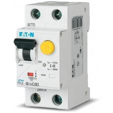 PFL6-40/1N/C/003 Дифференциальный автоматический выключатель 40/0,03А, кривая отключения С, 1+N полюсов, откл. способность 6 кА 286471