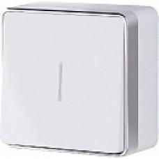Выключатель одноклавишный с подсветкой Gallant (белый)/WL15-01-04 a051578