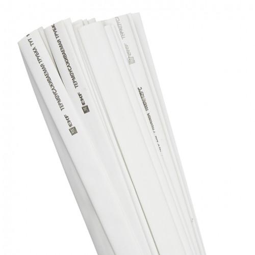Термоусаживаемая трубка ТУТ 16/8 белая в отрезках по 1м EKF PROxima tut-16-w-1m
