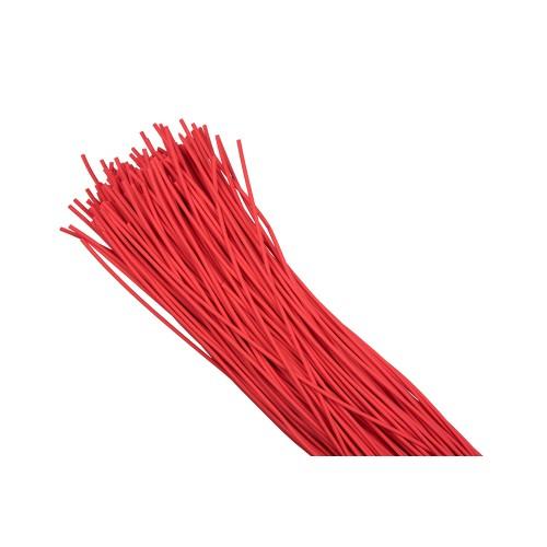 Термоусаживаемая трубка ТУТ  8/4 красная в отрезках по 1м EKF PROxima tut-8-r-1m