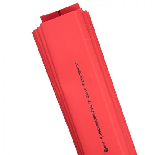 Термоусаживаемая трубка ТУТ 25/12,5 красная в отрезках по 1м EKF PROxima tut-25-r-1m