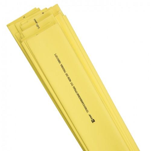 Термоусаживаемая трубка ТУТ 30/15 желтая в отрезках по 1м EKF PROxima tut-30-y-1m