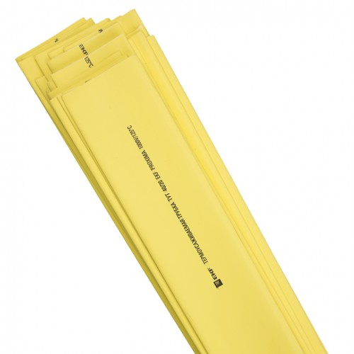 Термоусаживаемая трубка ТУТ 40/20 желтая в отрезках по 1м EKF PROxima tut-40-y-1m