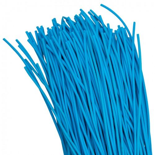 Термоусаживаемая трубка ТУТ  2/1 синяя в отрезках по 1м EKF PROxima tut-2-g-1m