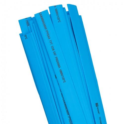 Термоусаживаемая трубка ТУТ  8/4 синяя в отрезках по 1м EKF PROxima tut-8-g-1m
