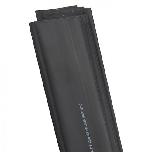 Термоусаживаемая трубка ТУТ 40/20 черная в отрезках по 1м EKF PROxima tut-40-b-1m