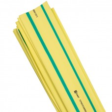 Термоусаживаемая трубка ТУТ 20/10 желто-зеленая в отрезках по 1м EKF PROxima tut-20-yg-1m
