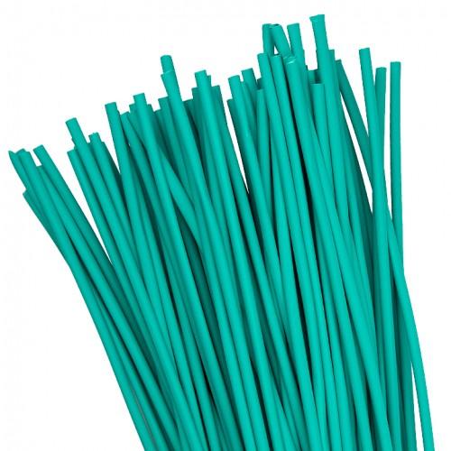 Термоусаживаемая трубка ТУТ  6/3 зеленая в отрезках по 1м EKF PROxima tut-6-j-1m