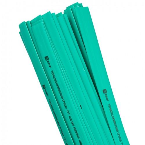 Термоусаживаемая трубка ТУТ 12/6 зеленая в отрезках по 1м EKF PROxima tut-12-j-1m