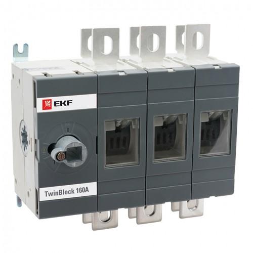 Рубильник  800A 3P реверсивный без рукоятки управления TwinBlock EKF tb-s-800-3p-rev