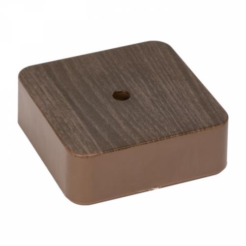 Коробка разветвительная KMP-030-030 (75х75х26) тёмное дерево EKF PROxima plc-kmr-030-030-t