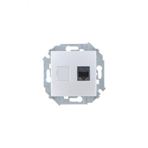 Розетка компьютерная  RJ45 кат.5e (AMP), алюминий 1591551-033