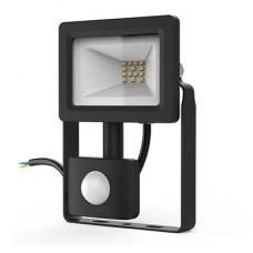 Прожектор светодиодный Gauss Elementary-S 10W 740lm IP65 6500К черный с датчиком движения 1/20 628511310
