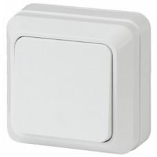 2-101-01 Intro Выключатель, 10А-250В, IP20, ОУ, Quadro, белый Б0027631