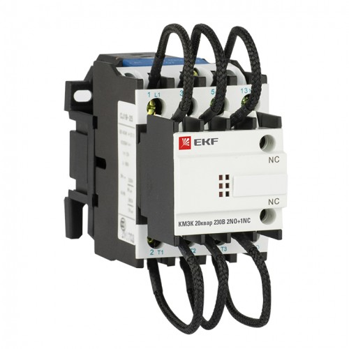 Контактор для конденсатора КМЭК 20квар 230В 2NО+1NC EKF PROxima ctrk-s-43-20-230