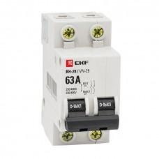 Выключатель нагрузки 2P 25А ВН-29 EKF Basic SL29-2-25-bas