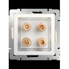 Акустическая розетка (перламутровый рифленый)/WL13-AUDIOx4 a040902
